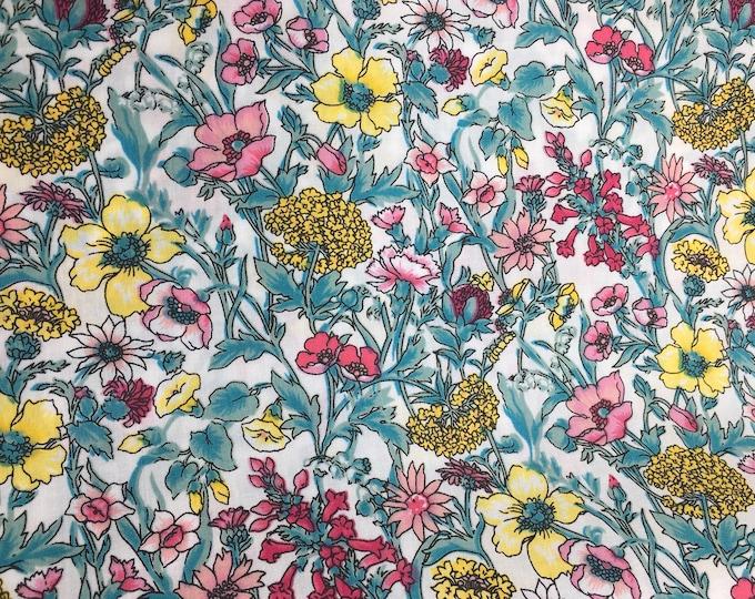London lawn cotton fabric, priced per 25cm, Alpes
