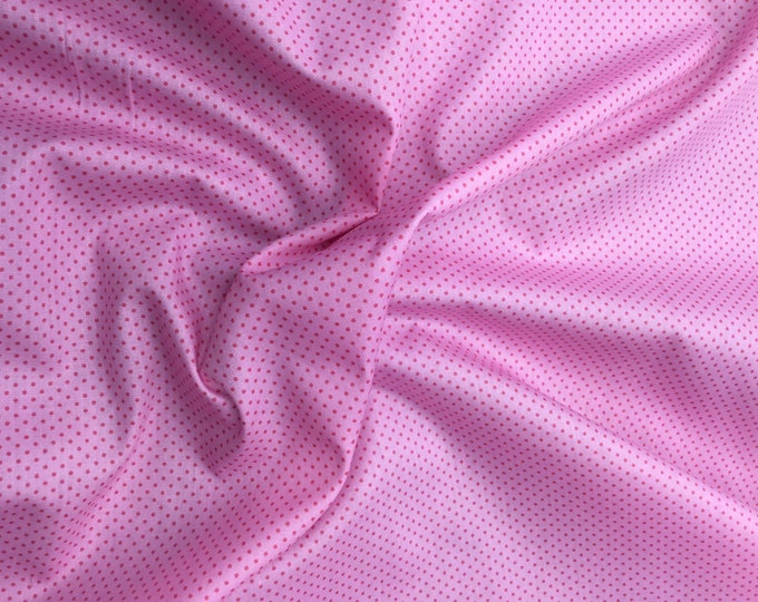 High quality cotton poplin. Pink polka dots baby pink nr1