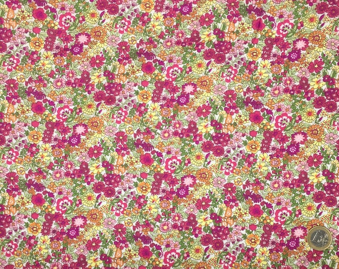 High quality cotton poplin, floral print