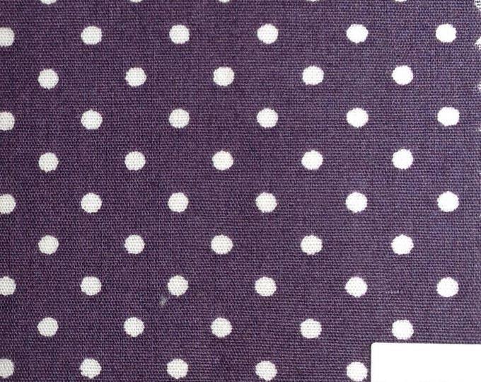 High quality cotton poplin, 3mm polka dots on violet