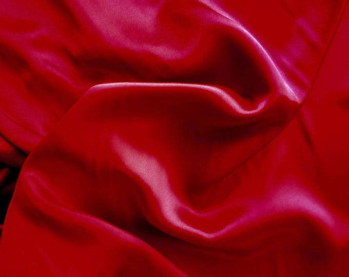 High quality silky satin, very close to genuine silk satin. Blood Red No47