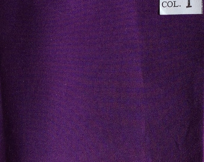 High quality light cotton twill dyed in japan, purple