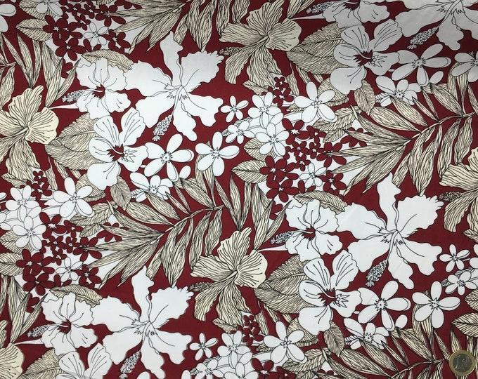High quality cotton poplin. Flora, maroon