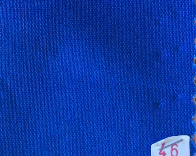 High quality soft cotton canvas dyed in Japan. Blue nr46