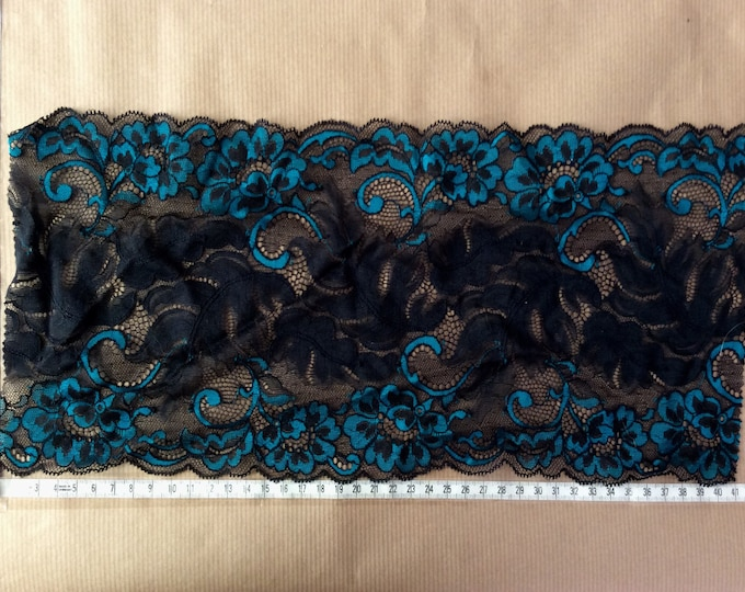 Bleu turquoise and black lace from a well known French manufacturer