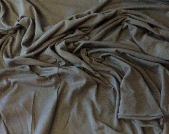 Khaki cotton jersey fabric