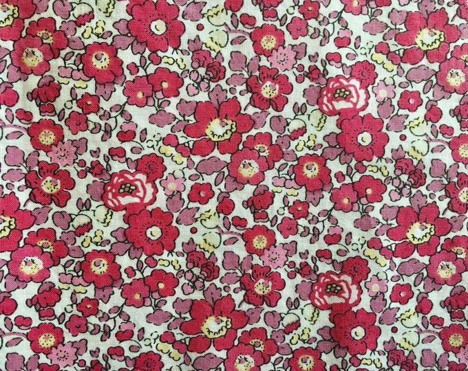 Tana lawn fabric from Liberty of London, exclusive Betsy Ann Cerise