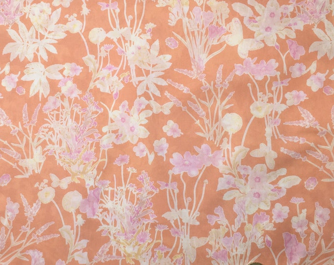 English Pima lawn cotton fabric, Provence Field