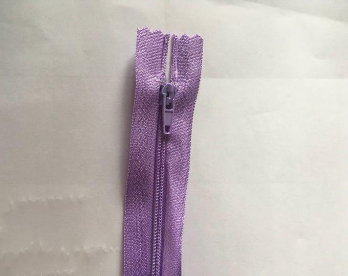 """Nylon coil zipper, 15cm (6""""), lilac"""
