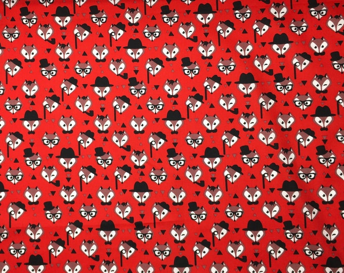 High quality cotton poplin. Mister Fox, red
