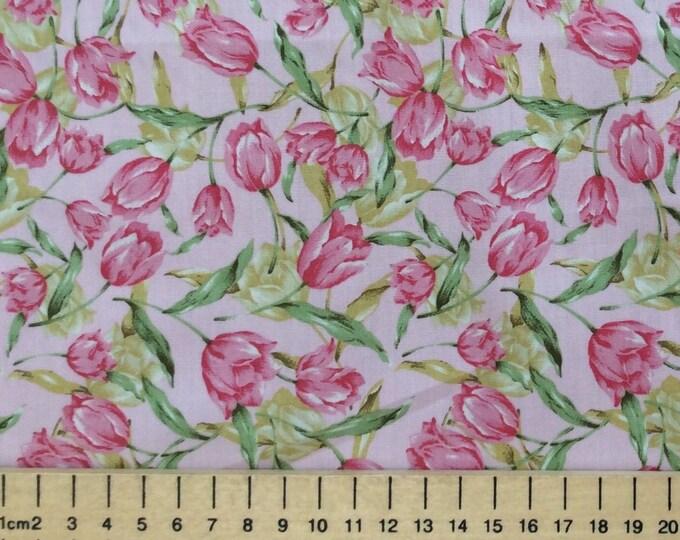 High quality cotton poplin, tulips