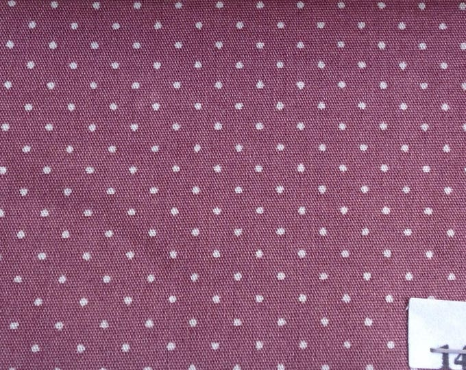 High quality cotton poplin, 1mm polka dots no14