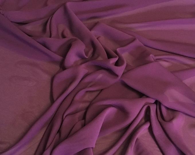 High quality Faux Silk Chiffon. Dark violet or light eggplant nr41