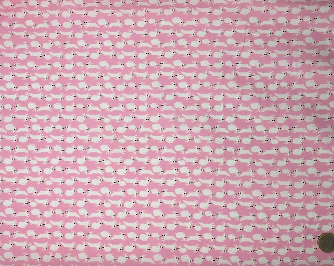 High quality cotton poplin dyed in Japan, rabbit print