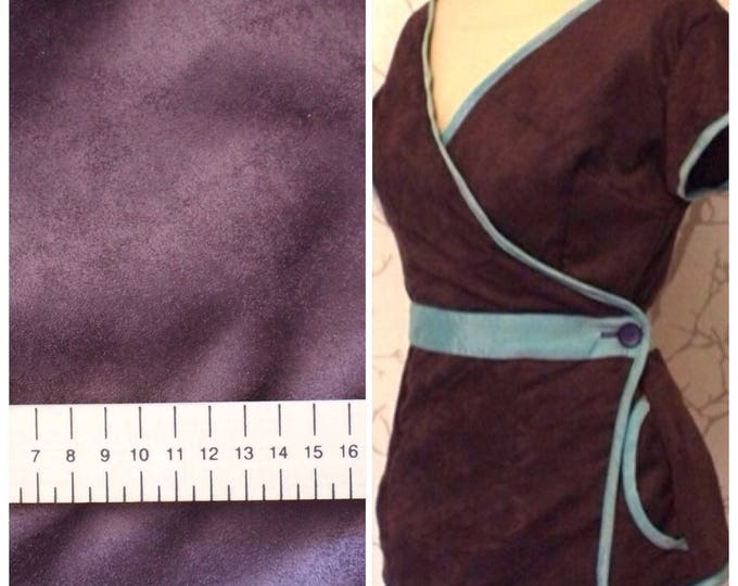Suede fabric, plum color