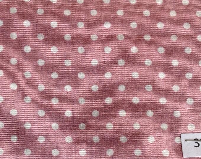 High quality cotton poplin, 3mm antique pink polka dots no33