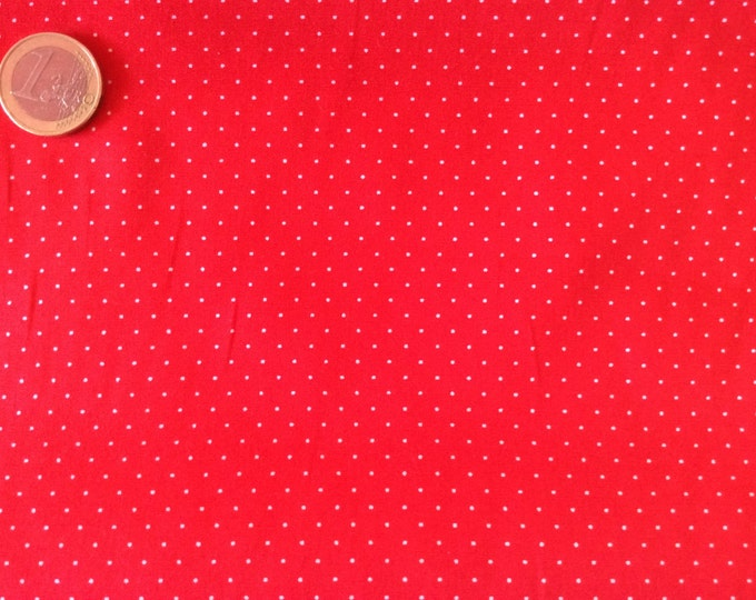 High quality cotton poplin dyed in Japan with 1mm polka dots nr10
