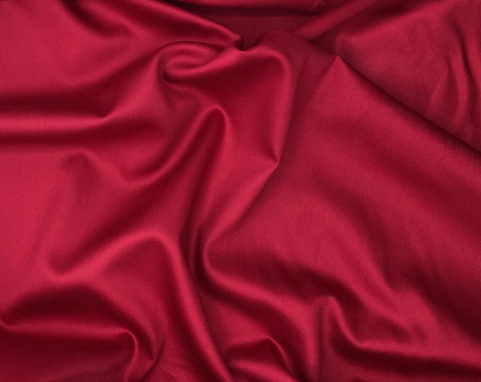 High quality cotton sateen, raspberry nr32