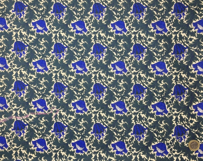 English Pima lawn cotton fabric. Thistle Blue
