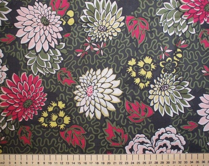 Tana lawn fabric from Liberty of London, meandering Chrysantemums