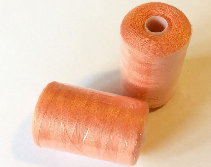 Sewing thread, 1000yds or 915m, peach