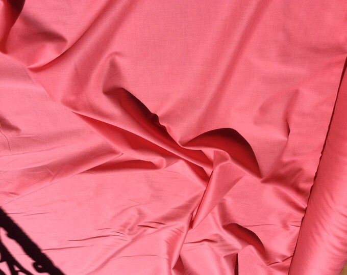 High quality cotton lawn dyed in Japan. Dark coral no21