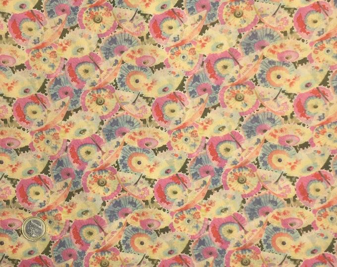 English Pima lawn cotton fabric, Gold Geisha