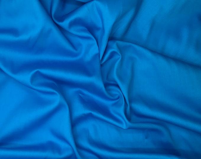 High quality cotton satin, light turquoise nr12