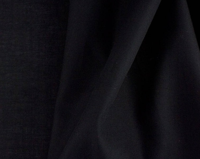 High quality cotton poplin, black
