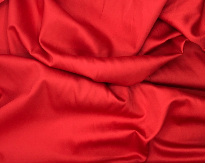 High quality cotton satin, red nr17
