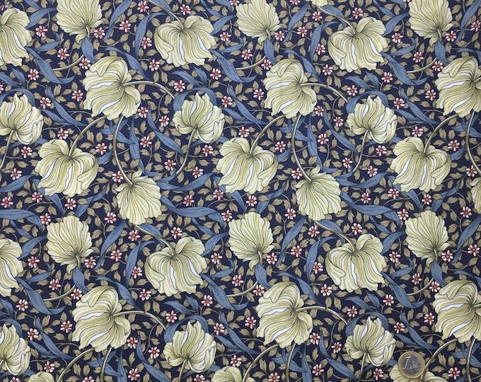 English Pima lawn cotton fabric, foliage, jugend style