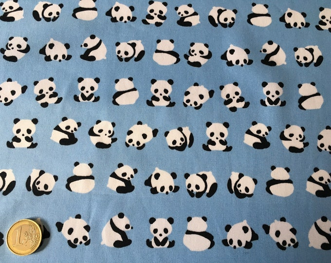 High quality cotton poplin dyed in Japan with pandas