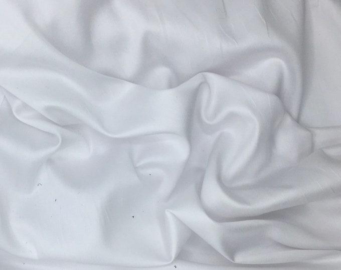 High quality cotton satin, white nr1