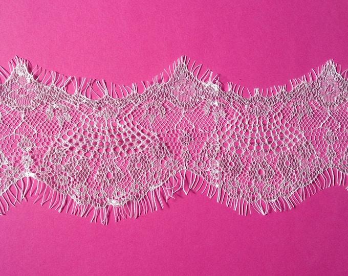 White, beautiful lace trim