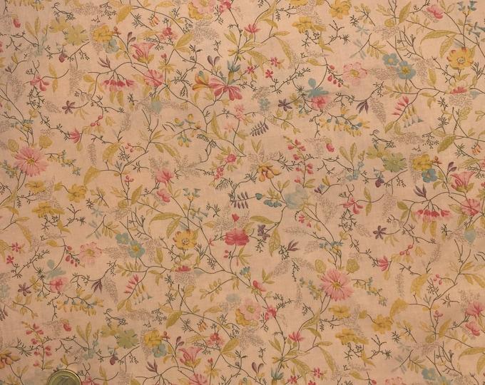 English Pima lawn cotton fabric, Antique Field