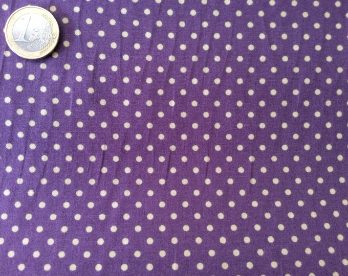 High quality cotton poplin dyed in Japan with 3mm polka dots nr27