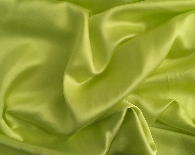 Genuine mid blue silk satin fabric backed crepe fabric