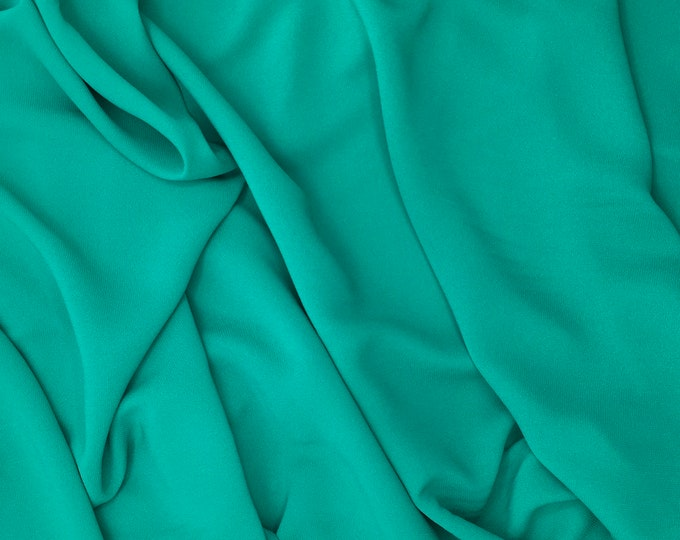 High quality Faux Silk Chiffon. Lagoon green no25