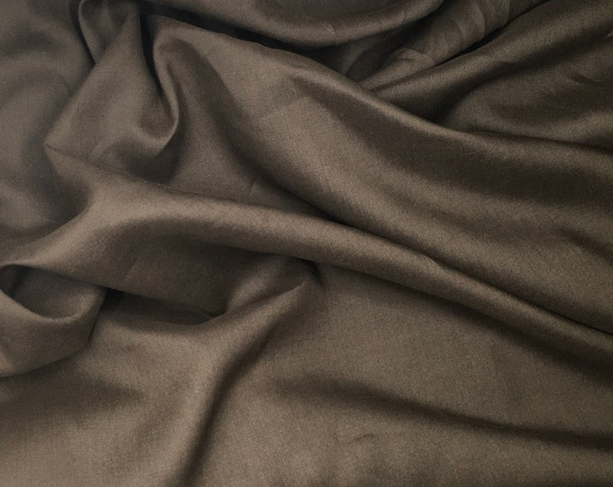 Pure linen fabric, chocolate
