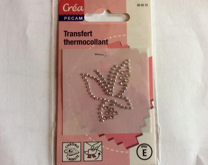 Crystal glass butterfly appliqué