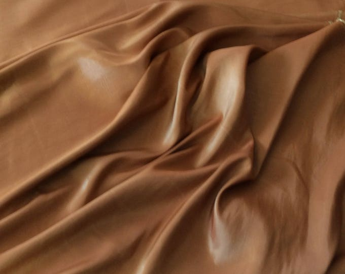 Golden/copper taffetas fabric