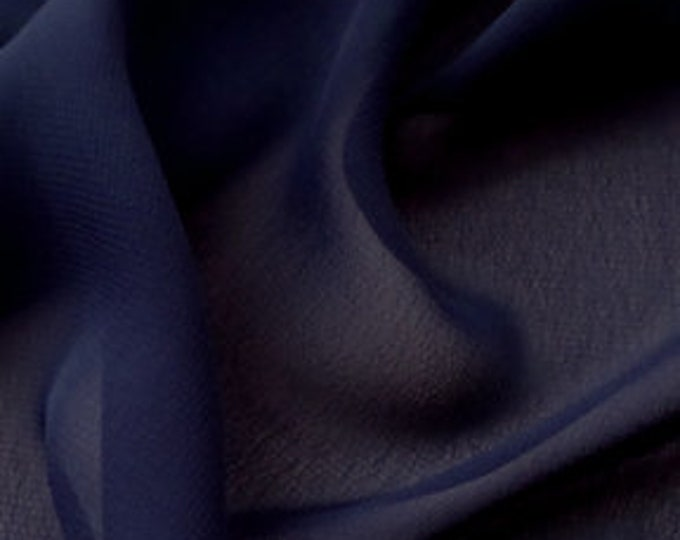 High quality Faux Silk Chiffon. Navy blue no80