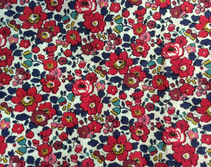 Tana lawn fabric from Liberty of London, Betsy Ann red