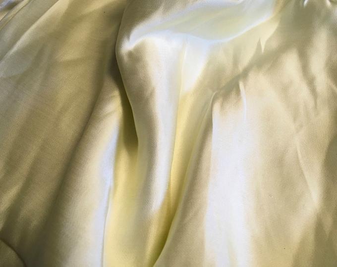 Genuine cream silk satin fabric