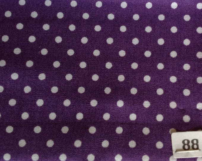 High quality cotton poplin, 3mm polka dots no88