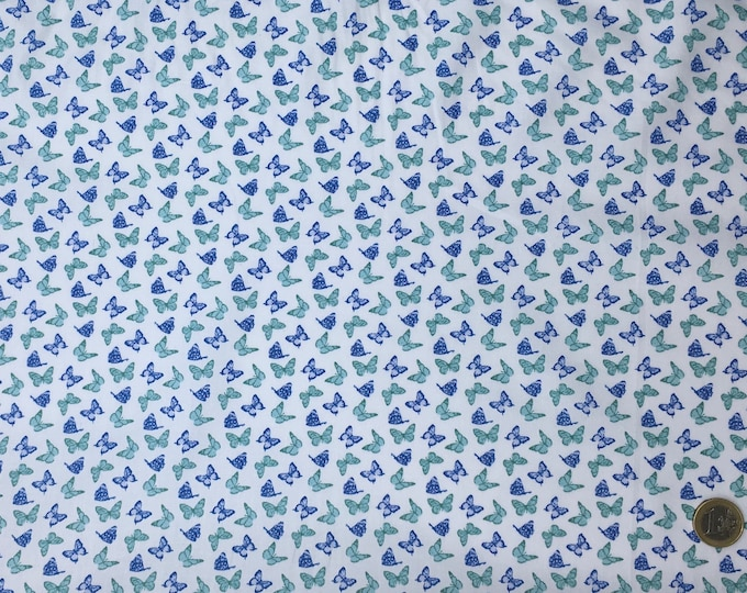 Huh quality cotton poplin, vintage butterfly print