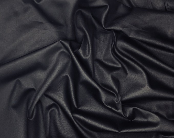 High quality cotton satin dyed in Japan, black nr27