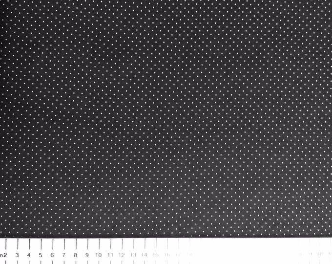 High quality cotton poplin, 2mm polka dots on black