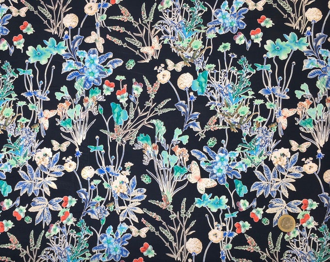 English Pima lawn cotton fabric, priced per 25cm, floral print