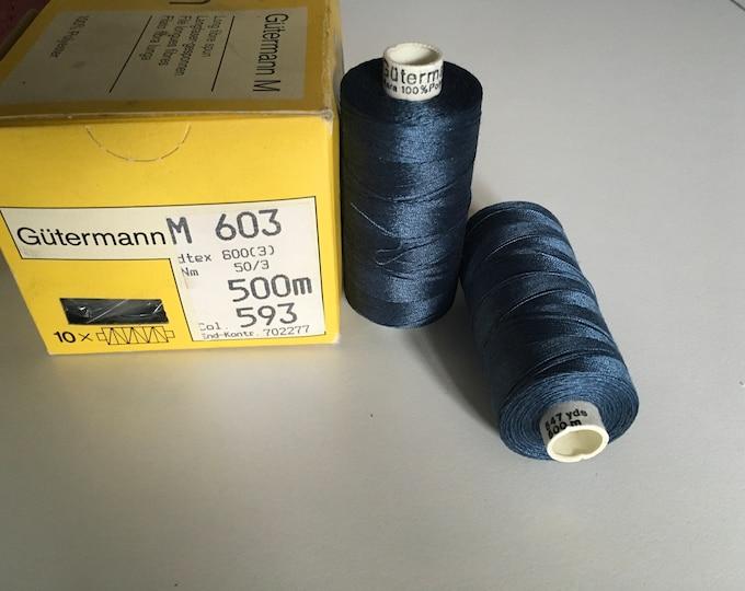 Gutermann sewing extra strong thread, dark blue